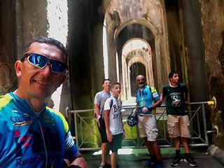 Piscina Mirabilis and Aragonese Castle of Baia with irentbike.com
