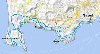 """Tour route """"Exploring the Campi Flegrei"""" with irentbike.com"""