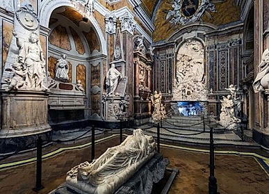 """Veiled Christ, San Severo Chapel during the tour """"In the hearth of Naples, by irentbike.com"""
