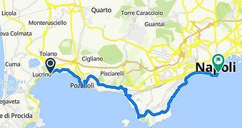 Percorso Arco Felice Napoli, con irentbike.it