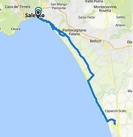 Salerno, Paestum in bike tour during tour boat and bike