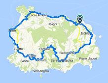 Percorso del giro di Ischia in bike Tour Boat e Bike nel golfo di Napoli, by irentbike.com
