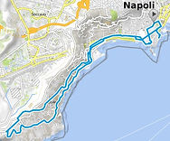 Percorso bike tours Napoli Panoramica, by irentbike.it