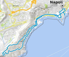 Route bike tours Panoramic Naples, by irentbike.com