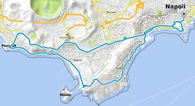 Bike tour route The way to Puteoli with irentbike.com