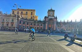 Bike tours Naples, visit Piazza dante, by irentbike.com