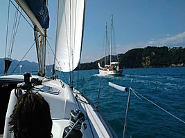 Bike tour Boat&Bike in sailing boat, in the gulf of Naples, , by irentbike.com