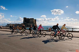 Cyclotour Naples visit Castel dell'Ovo with irentbike.it