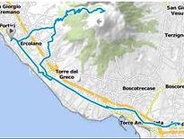 Percorso Pompei & Vesuvio Bike tour Boat&Bike Nel golfo di Napoli. by irentbike.com