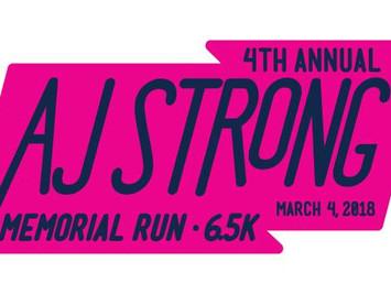 4th Annual AJ Strong Memorial Run - 6.5k