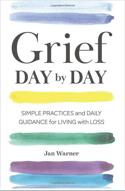 screen shot of the cover of book Grief Day by Day by Jan Warner