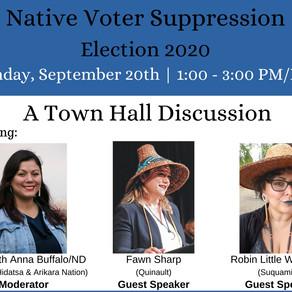 Native American Voter Suppression: Election 2020