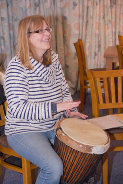Leading the African Drumming