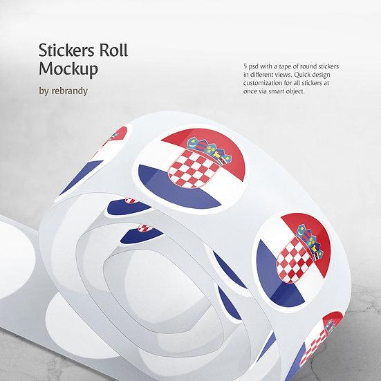 Stickers Roll Mockup