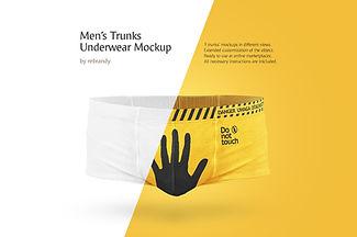 Men's Trunks Underwear Mockup