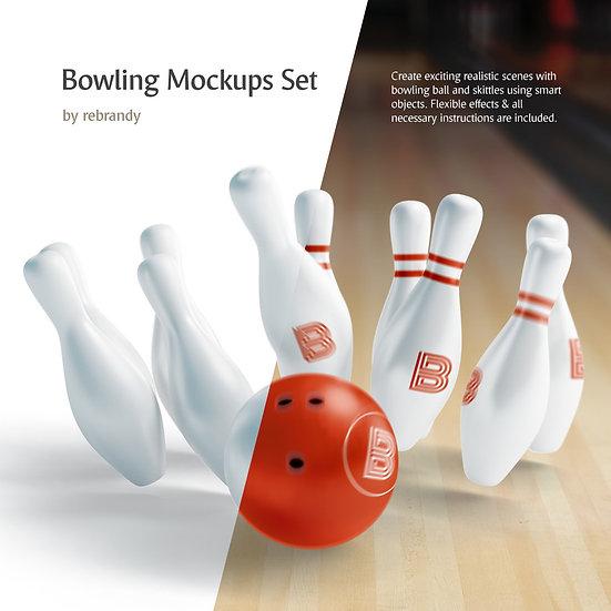Bowling Mockups Set