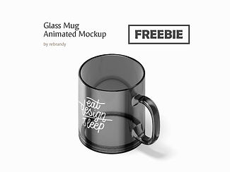 Freebie! Glass Mug Animated Mockup