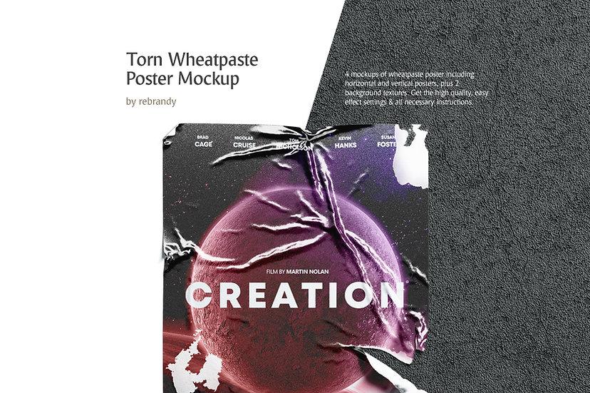 Torn Wheatpaste Poster Mockup