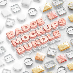 Button Badge Mockups Bundle
