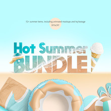 Hot Summer Mockups Bundle
