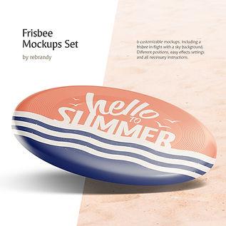 Frisbee Mockups Set