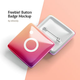 Freebie! Button Badge Mockup