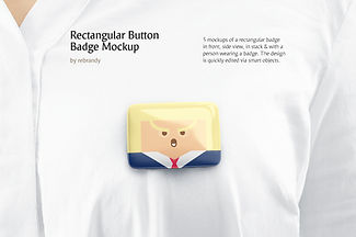 Rectangular Button Badge Mockup