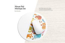 Mouse Pad Mockups Set