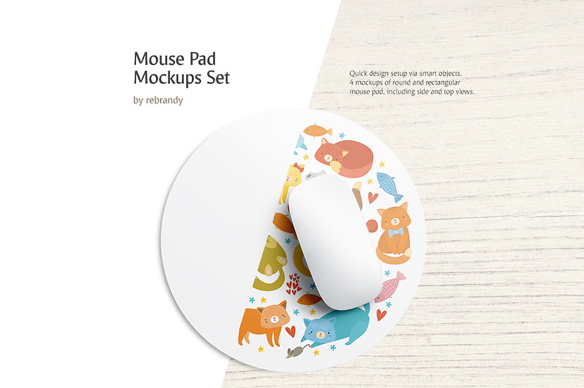 Mouse Pad Mockups Set