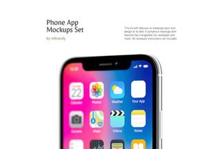 Phone App Mockups Set