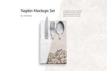 Napkin Mockups Set