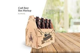 Craft Beer Box Mockup