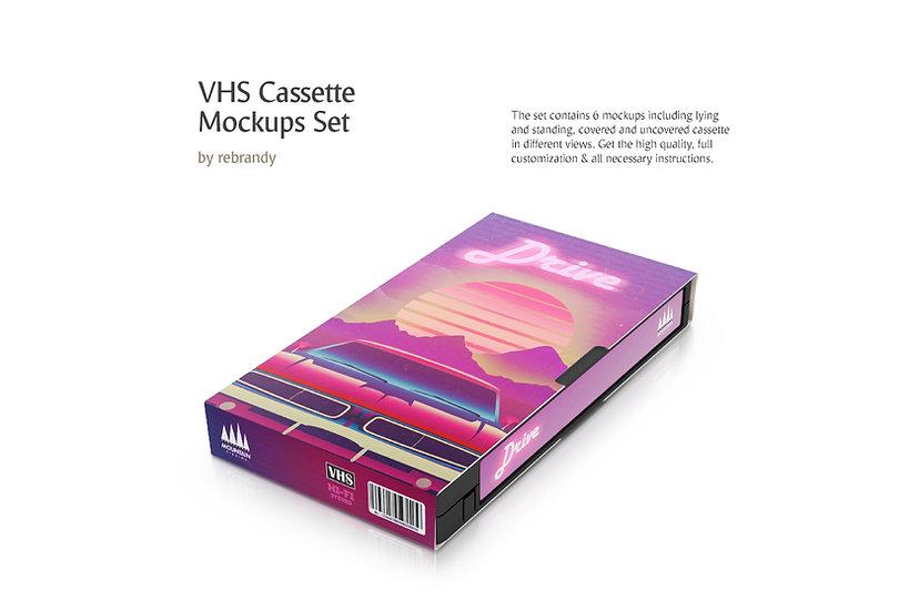 VHS Cassette Mockups Set - Extended