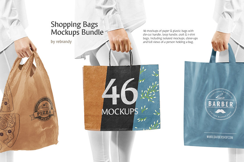 Shopping Bags Mockups Bundle