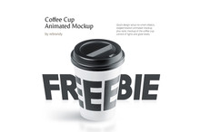 Freebie! Coffee Cup Animated Mockup