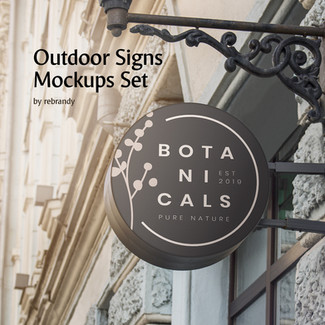 Outdoor Signs Mockups Set