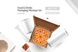 Food & Drinks Packaging Mockup Set
