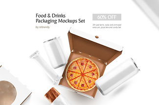 Food & Drinks Packaging Mockup Set