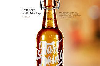 Craft Beer Bottle Mockup