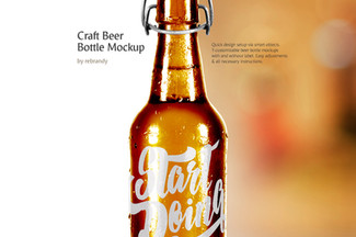 Craft Beer Bottle Mockup