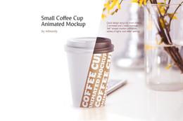 Small Coffee Cup Animated Mockup