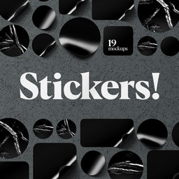 Stickers Mockups Set