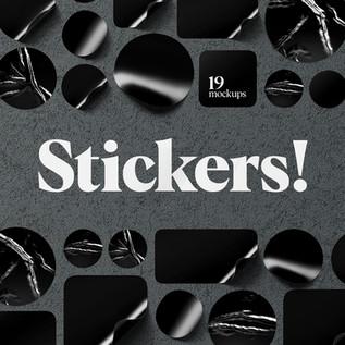 Stickers Mockups Set