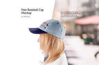 Freebie! Baseball Cap Mockup