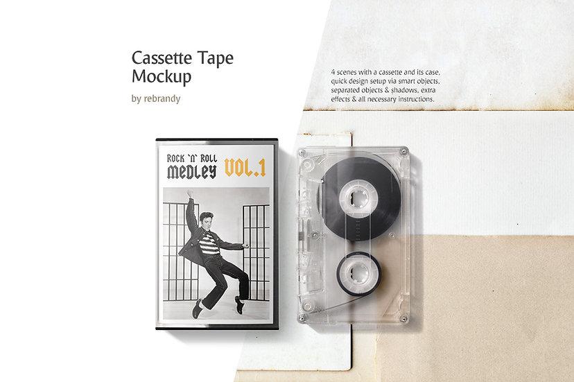 Cassette Tape Mockup - Extended