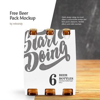 Freebie! Beer Pack Mockup