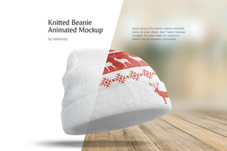 Knitted Beanie Animated Mockup