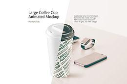 Large Coffee Cup Animated Mockup