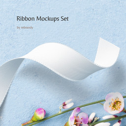 Ribbon Mockups Set