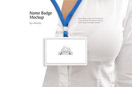 Name Badge Mockup